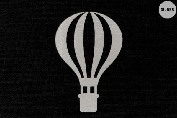 Heißluftballon | Ballon | Reflektierendes Bügelbild Meterware | 5 cm |
