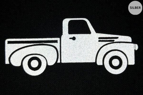 Classic Pick Up   Reflektierendes Bügelbild   5 cm  