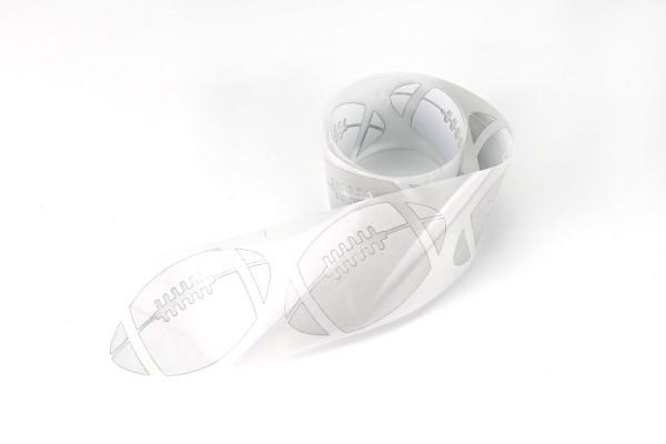 Football | Reflektierendes Bügelbild Meterware | 5 cm |