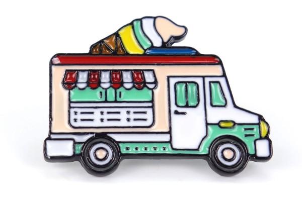 Pin Eiswagen | Food Truck | Türkis Pink Weiß