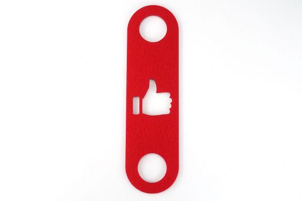 Türanhänger >Daumen hoch< Rot | Filz | Höhe ca. 27 cm