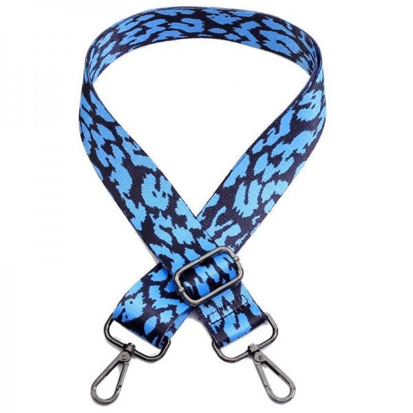 Leo-Look Taschengurt | Blau, Schwarz | verstellbar