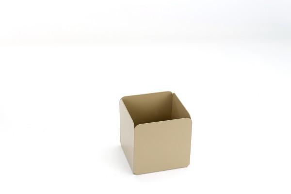 Metall-Stiftebox | hoher, quadratischer Einsatz