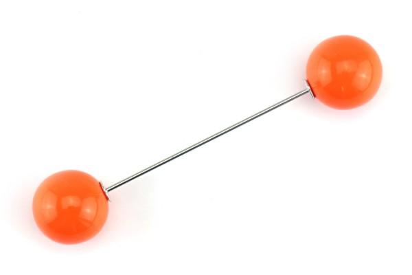 Pin mit zwei Kugeln | Orange | 7 cm
