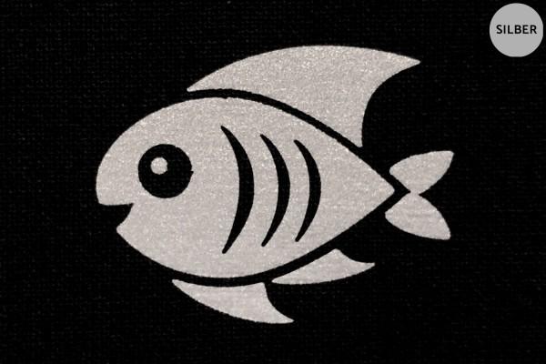 Fisch | Reflektierendes Bügelbild Meterware | 2,5 cm |