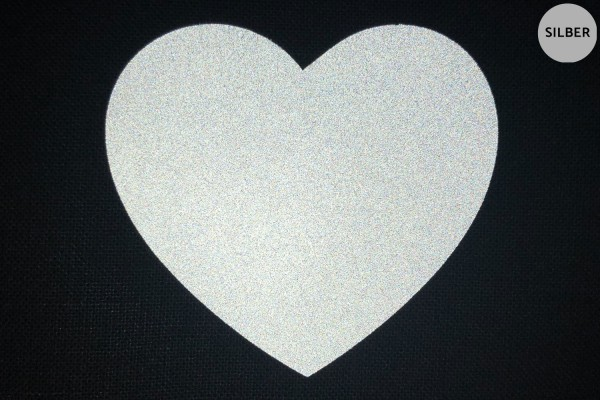 Herz | Reflektierendes Bügelbild 2er-Set | 2,5 cm |