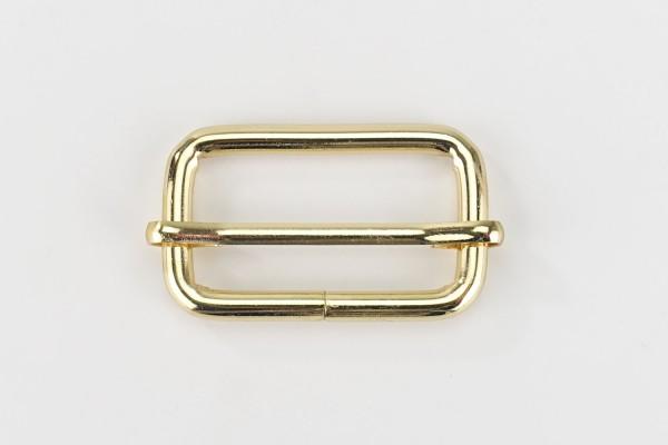 Metall Schieber 38 mm | Leiterschnalle | Gold-farben