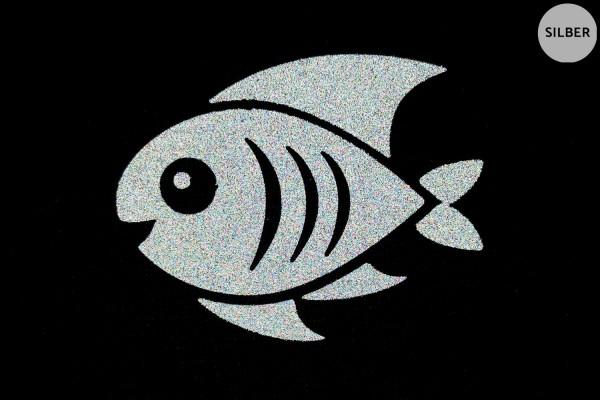 Fisch | Reflektierendes Bügelbild | 5 cm |