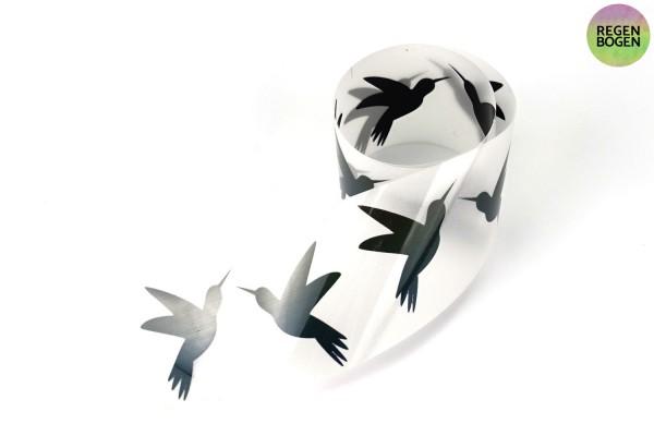 Kolibri Paar   Reflektierendes Bügelbild Meterware   5 cm  