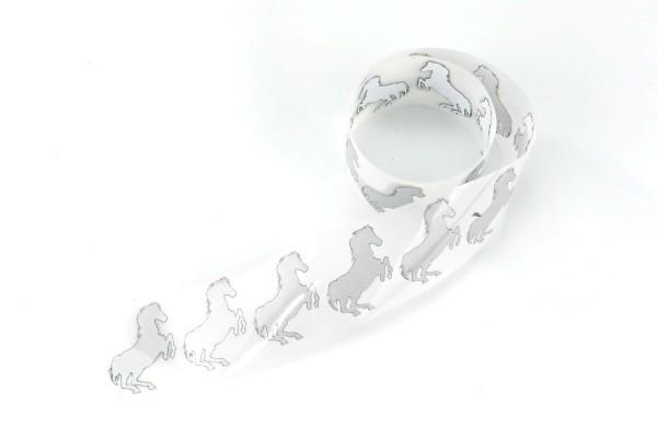 Pferd   Reflektierendes Bügelbild Meterware   2,5 cm  