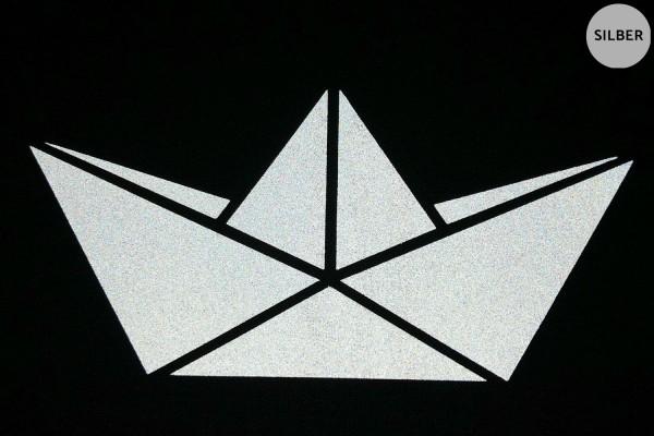 Papierboot | Schiffchen | Reflektierendes Bügelbild | 5 cm |