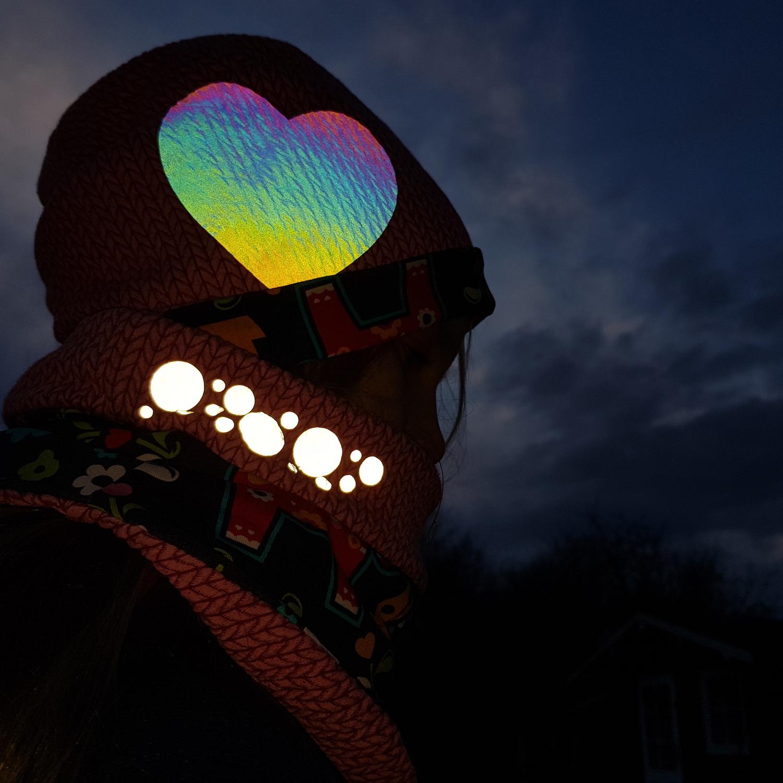 Reflektoren in Action | Unterwegs mit Nähgedöns