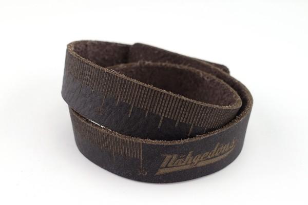 Wickelarmband 2-fach | Maßband | Echt-Leder mit Kugelverschluss