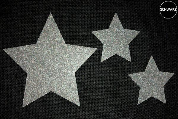 Sternenfamilie | Reflektierendes Bügelbild Meterware | 2,5 cm |