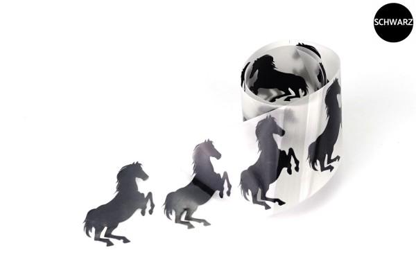 Pferd | Reflektierendes Bügelbild Meterware | 5 cm |