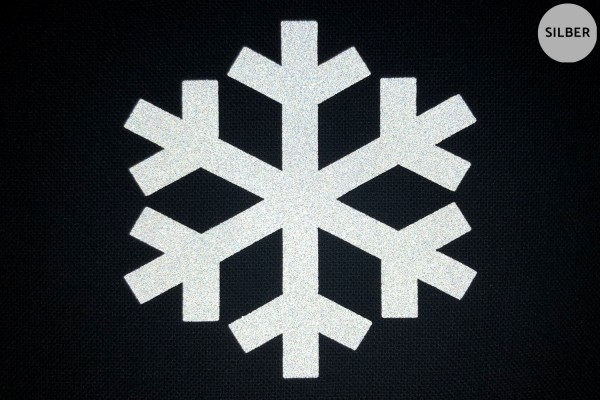 Schneeflocke | Reflektierendes Bügelbild | 5 cm |