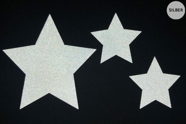 Sternenfamilie | Reflektierendes Bügelbild 2er-Set | 2,5 cm |