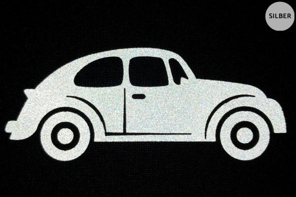 Hippie-Auto   Reflektierendes Bügelbild   5 cm  
