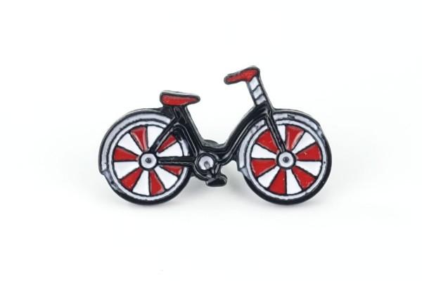 Pin Fahrrad | Rot Weiß Schwarz