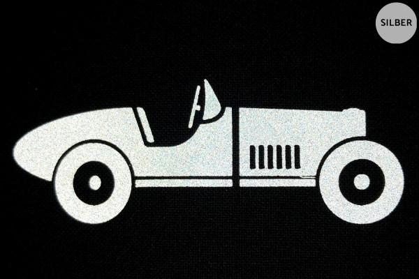 Classic Rennwagen | Reflektierendes Bügebild | 5 cm |