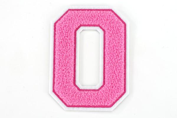 Frottee Zahl 0-9 | Rosa, Pink, Weiß | 9,5 cm hoch | Varsity Number