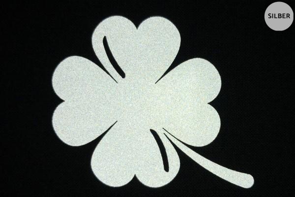 Glücksklee   Reflektierendes Bügelbild   5 cm  