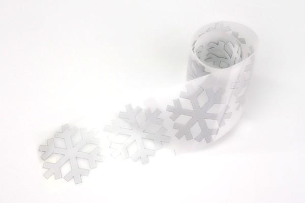 Schneeflocke | Reflektierendes Bügelbild Meterware | 5 cm |