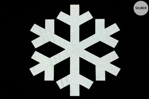 Schneeflocke | Reflektierendes Bügelbild | 10 cm |