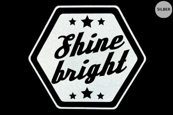 Shine Bright | Reflektierendes Bügelbild | 8 cm |