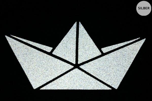 Papierboot   Schiffchen   Reflektierendes Bügelbild 2er-Set   2,5 cm  