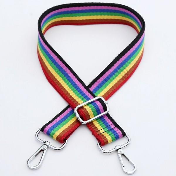 Taschengurt Regenbogen Streifen | verstellbar mit Karabinern