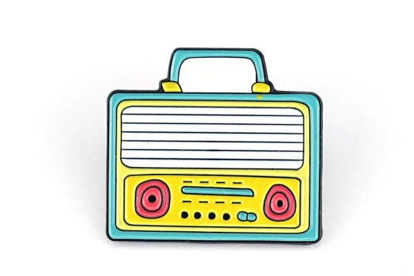 Pin Boom-Box | Kassetten-Rekorder | Türkis Gelb