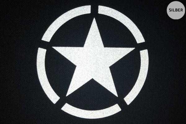 Army Star | Reflektierendes Bügelbild 2er-Set | 2,5 cm |