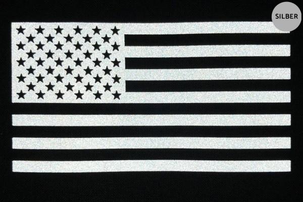 USA Flagge | Reflektierendes Bügelbild | 10 cm |