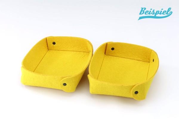 Filzeinsatz-Set 2-teilig unten | ohne Laschen | 3,5 cm hoch | für die Toolbox