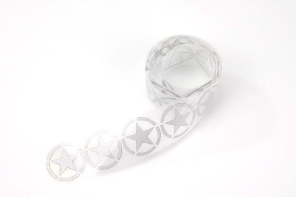 Army Star | Reflektierendes Bügelbild Meterware | 2,5 cm |