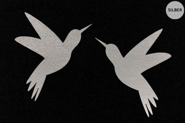 Kolibri Paar | Reflektierendes Bügelbild 2er-Set | 2,5 cm |