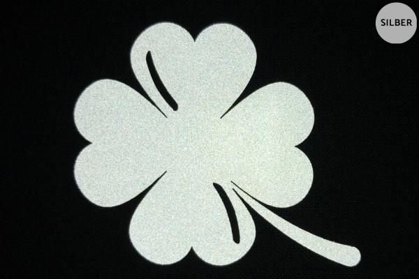 Glücksklee | Reflektierendes Bügelbild 2er-Set | 2,5 cm |
