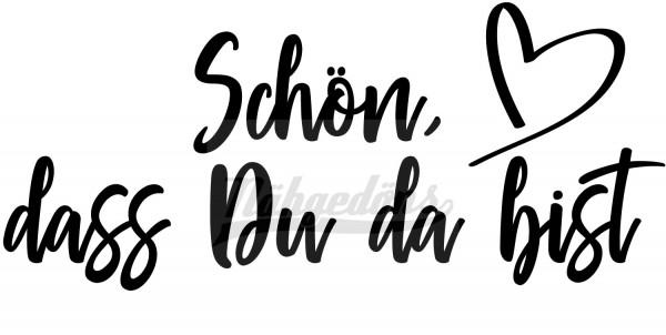 """Kleiderbügel mit Gravur """"Schön, dass Du da bist""""   Holz Weiß   Made in Germany"""
