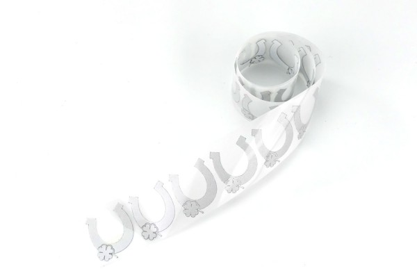 Hufeisen | Reflektierendes Bügelbild Meterware | 2,5 cm |