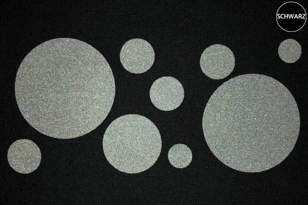 Punkte | Reflektierendes Bügelbild Meterware | 2,5 cm |