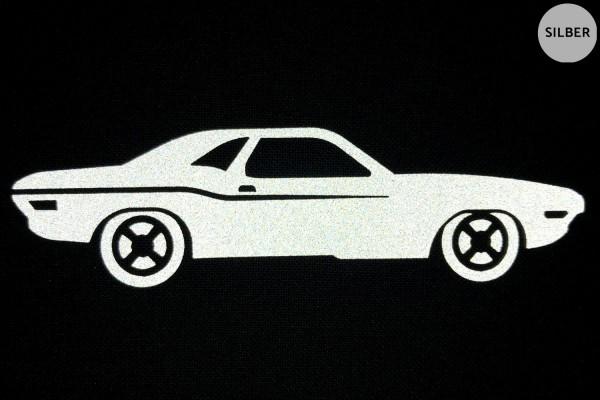 Muscle Car   Reflektierendes Bügelbild   5 cm  