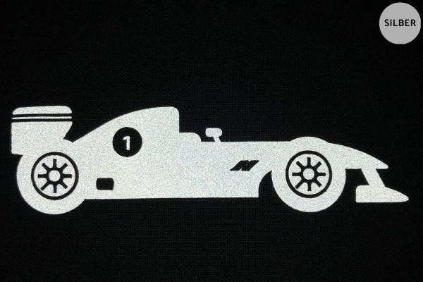 Rennwagen   Reflektierendes Bügelbild 2er-Set   2,5 cm  