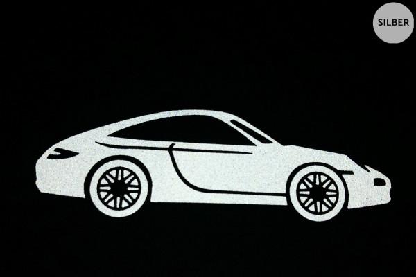 Sportwagen | Reflektierendes Bügelbild 2er-Set | 2,5 cm |