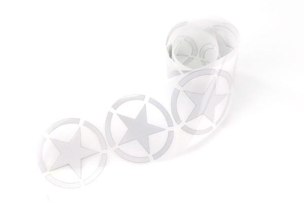 Army Star | Reflektierendes Bügelbild Meterware | 5 cm |