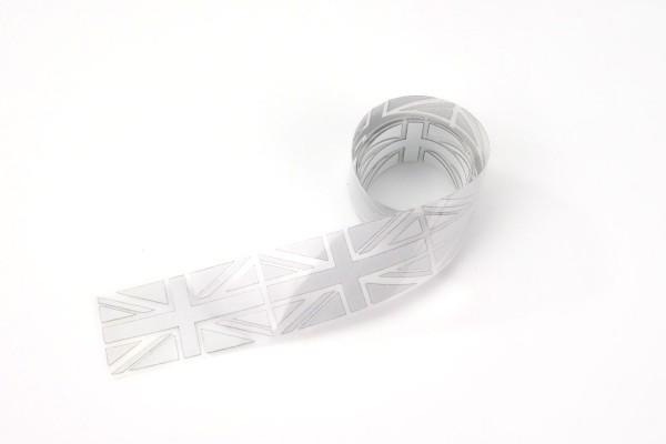 Union Jack | Reflektierendes Bügelbild Meterware | 2,5 cm |