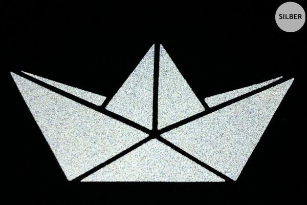 Papierboot | Schiffchen | Reflektierendes Bügelbild 2er-Set | 2,5 cm |