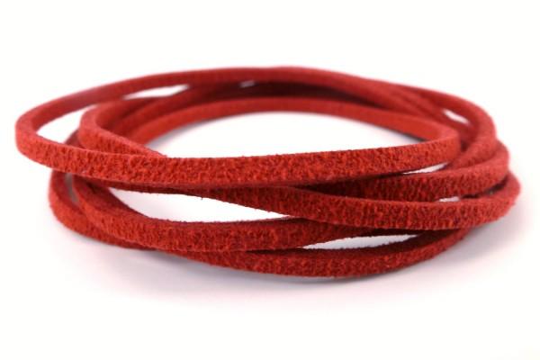 Band aus Wildlederimitat | Feuer-Rot