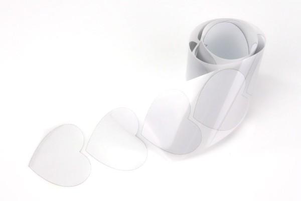 Herz | Reflektierendes Bügelbild Meterware | 5 cm |