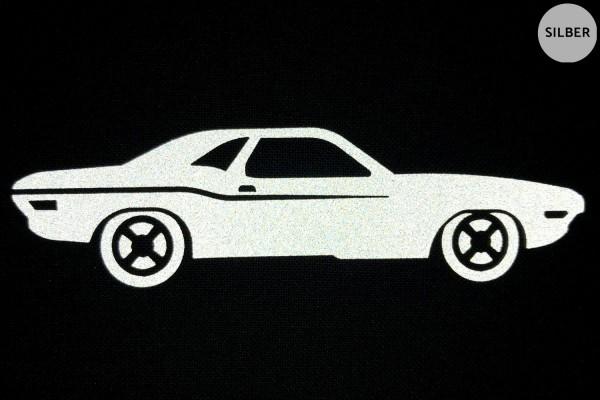 Muscle Car | Reflektierendes Bügelbild | 5 cm |